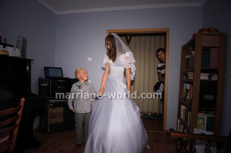 russian bride with a boy
